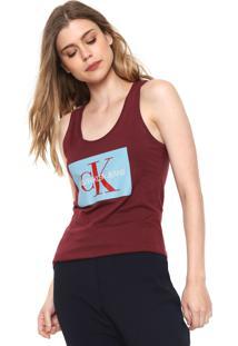 Regata Calvin Klein Jeans Logo Vinho