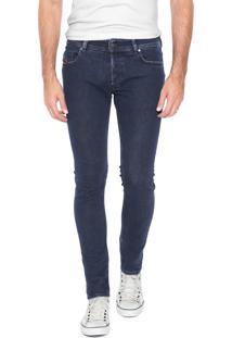 Calça Jeans Diesel Reta Sleenker Azul-Marinho