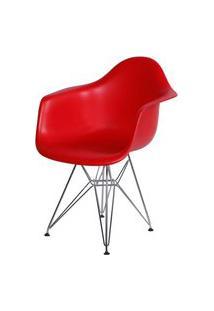 Poltrona Eames Dar Com Braço Or Design Vermelho