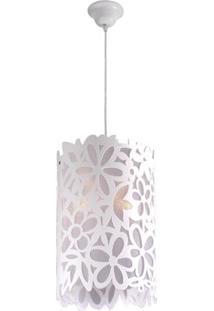 Lustre Taschibra Floralia - 1 Lâmpada Branco