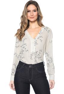 Camisa Lança Perfume Floral Off-White