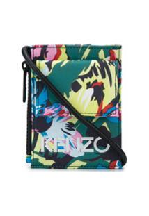 Kenzo Porta-Moedas Com Alça E Estampa Floral - Verde