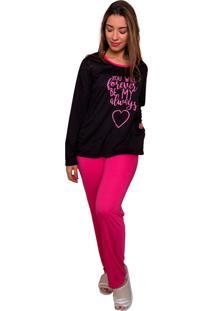 Pijama Bella Fiore Modas Em Poá Poliane Rosa - Tricae
