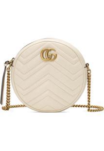 Gucci Bolsa Tiracolo Mini Gg Marmont - Branco