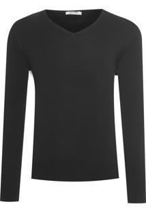 Blusa Masculina Tricot Pima - Preto