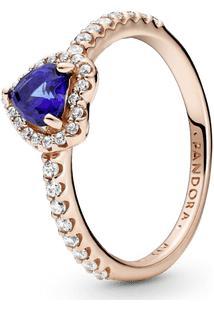Anel Coração Azul Brilhante Pandora Rose™
