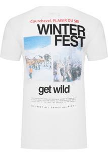 Camiseta Masculina Winter Fest - Branco