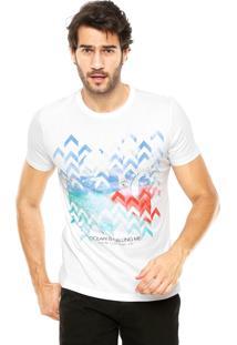Camiseta Enfim Estampada Branca