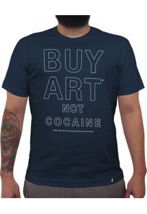 Buy Art Not Cocaine - Camiseta Clássica Masculina