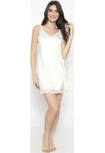Camisola Com Rendaoff White - Eleganceelegance