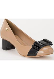 Scarpin Candy Lace Cs Club Natural - Feminino - Dafiti