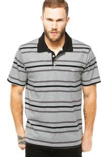 Camisa Polo Quiksilver Stripe Cinza
