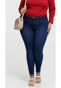 Calça Jeans Skinny Feminina Plus Size