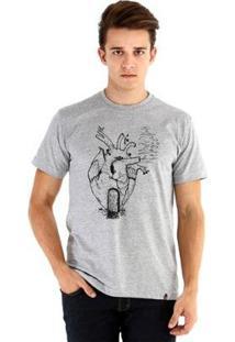 Camiseta Ouroboros Manga Curta Morada Masculina - Masculino-Cinza
