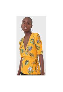 Blusa Colcci Transpassada Amarela