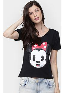 Camiseta Disney Minnie - Feminino-Preto