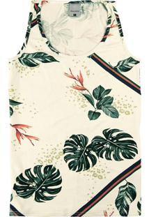 Blusa Bege Em Viscose Tropical