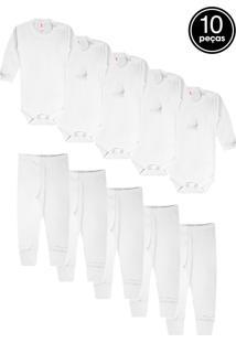 Kit 10Pçs Body Zupt Baby Enxoval Branco - Kanui