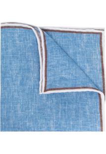 Lady Anne Echarpe Bicolor De Linho - Azul