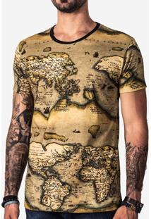 Camiseta Hermoso Compadre Vintage Map Masculina - Masculino