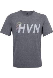 Camiseta John John Rx Hvn Digital Malha Cinza Mescla Masculina (Mescla Claro, M)