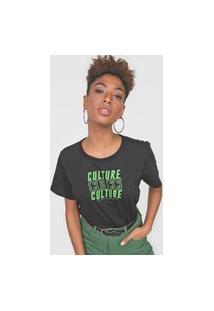 Camiseta Colcci Culture Preta