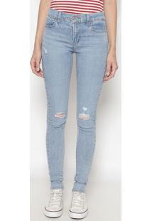 Jeans 710™ Super Skinny Com Puídos- Azul Clarolevis