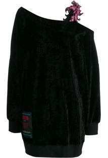 Versace Jeans Couture Suéter Com Detalhe Floral - Preto