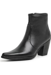 Bota Botina Feminina Country Texana Bico Fino Couro Jna Shoes