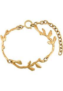 Marni Bracelete Com Detalhe De Folha - Dourado