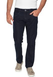 Calça Jeans Yachtsman Slim Bolsos Azul-Marinho