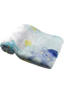 Cobertor Para Bebê Verde Água Sonho Hetruria Verde Água