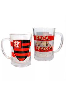 Canecão De Vidro Flamengo - Unissex