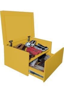 Sapateira Box Baú Caixa Organizadora Para Sapatos - Amarelo Laca