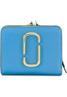 Marc Jacobs Carteira Com Logo E Zíper - Azul