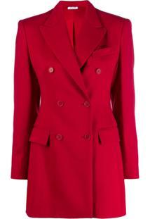 P.A.R.O.S.H. Blazer Slim Estruturado - Vermelho