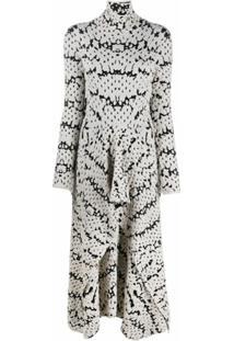 Christian Wijnants Vestido Texturizado De Tricô Com Estampa Abstrata - Preto
