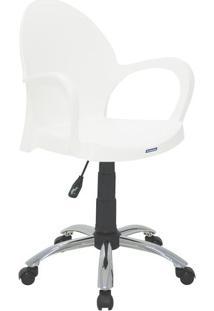 Cadeira Com RodãZio Grace- Branca & Prateada- 78X62Xtramontina