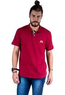 Camisa Polo Hipica Polo Club Estilo Classic Masculina - Masculino-Vinho