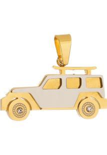 Pingente Carro Tudo Jóias De Aço Inox Modelo Dourado