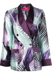 F.R.S For Restless Sleepers Double Breasted Blazer - Roxo