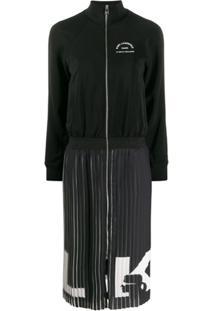Karl Lagerfeld Vestido Rue St Guillaume Com Pregas - Preto
