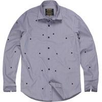 9f2ed07c0f Camisa Masculina Tricoline Bordado Naipe Off White Preto