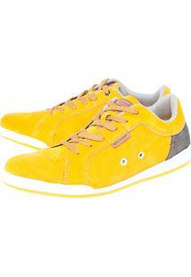 Sapatênis West Coast Texturizado Amarelo