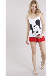 Pijama Feminino Mickey Mouse Branco