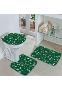 Jogo Tapetes Para Banheiro Merry Christmas Único - Kanui