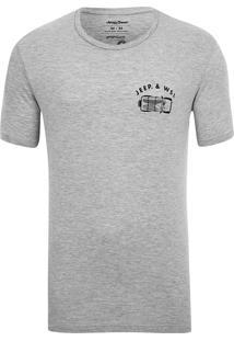 Camiseta Especial Jeep E Wsl Wrangler Trip Mescla Cinza
