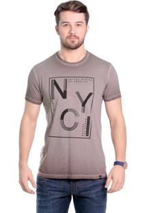 Camiseta Javali Marrom Nyc
