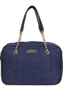 Bolsa Queens Mini Bag Nylon Matelassê Feminina - Feminino-Marinho