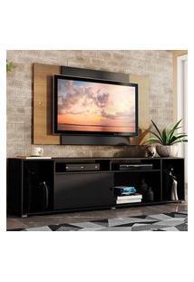 Rack Madesa Cancun E Painel Para Tv Até 58 Polegadas - Preto/Rustic 8N7K Preto